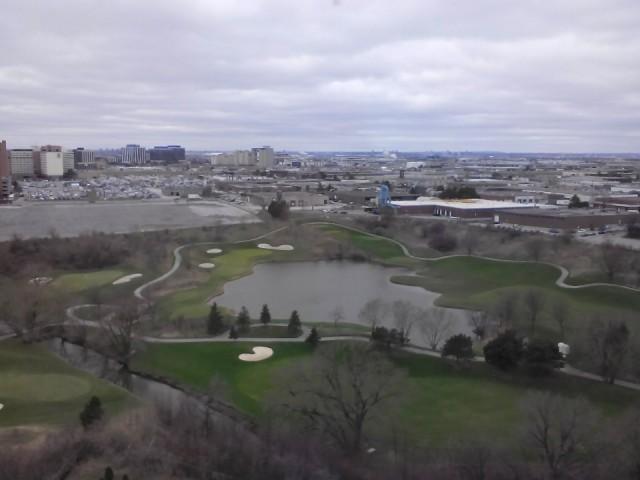 uitzicht vanaf onze kamer op de 15e verdieping