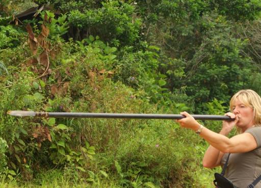Gemaakt op 18 mei 2009 in lemanak river sarawak borneo maleisië